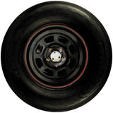 Race car wheel Stock Images