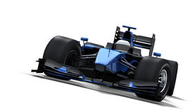 Race car on white - black & blue stock photography