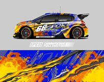 Car wrap decal designs. Abstract racing and sport background for racing livery or daily use car vinyl sticker.