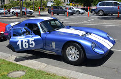 Race Cars. One of the race cars that has just completed its run at the Geelong Revival, on the 1-2 December 2012. The first speed trials were in 1956, over a Royalty Free Stock Photo