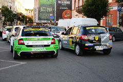 Race cars at the Transilvania Rally 2016 Cluj-Napoca Royalty Free Stock Image