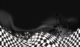 Race, checkered flag background