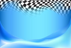 Race, checkered flag background Royalty Free Stock Images