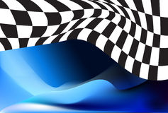 Race, checkered flag background Stock Photos