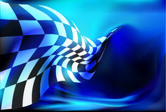Race, checkered flag background Royalty Free Stock Image