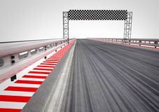 Race circuit finish line perspective Royalty Free Stock Images