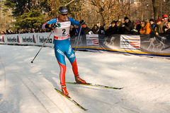 Race in the city, FIS Cross-Country World Cup Royalty Free Stock Image