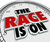 The Race is On Clock Game Competition Challenge Starting Royalty Free Stock Images