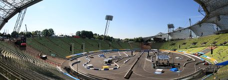 Race course of the first DTM race in Munich Royalty Free Stock Photography