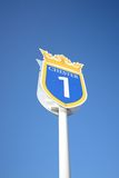 Race course sign. Chester race course sign on a blue sky background Stock Photos