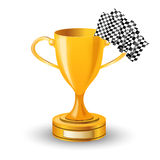 Race cup. On a white background Royalty Free Stock Image