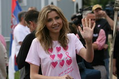 Race For the Cure 7. Sarah Chalke takes part in the Annual Race for cure  Breast Cancer awareness race in Washington DC Stock Images