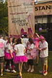 Race for the cure awareness Portland Oregon event. Royalty Free Stock Photography