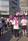 Race for the cure awareness Portland Oregon event. Royalty Free Stock Photos