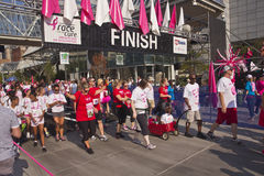 Race for the cure awareness Portland Oregon event. Stock Image