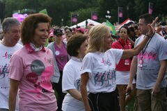 Race for the Cure for the Nation2. Vice Presidents Wife Mrs. Jill Biden,Nancy  Brinker and other Dignitaries from around the world take part in Race for the cure Stock Photography