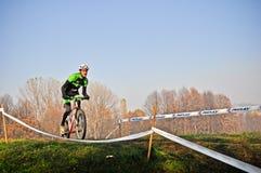 Race of cyclocross Stock Photos