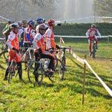 Race of cyclocross Stock Image
