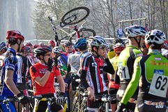 Race of cyclocross Royalty Free Stock Photos