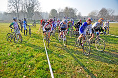 Race of cyclocross Stock Photo