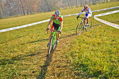Race of cyclocross Stock Photography