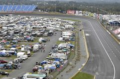 Race Day. The Lowes Motor Speedway in Charlotte NC on race day Stock Photos