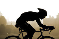 Race Day. Cyclist against rural backdrop Stock Photography