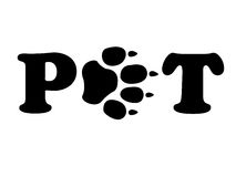Race de Paw Means Domestic Animals And d'animaux familiers Photos stock