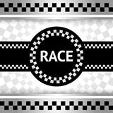 Race den nya bakgrunden Royaltyfri Fotografi