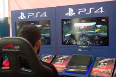 Race with DriveClub - Exclusive Game for PS4 Stock Photo