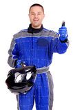 Race driver Royalty Free Stock Image