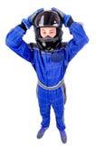 Race driver Stock Photo