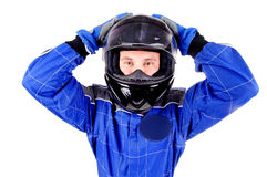 Race driver Royalty Free Stock Images