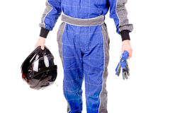 Race driver Stock Image