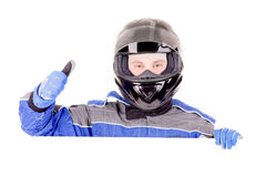 Race driver Stock Photo