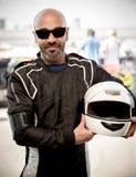Race driver portrait Stock Photography