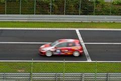 Race driving car track asphalt finish stock photos
