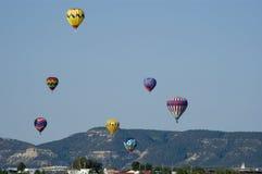 race för 2 ballong Arkivbilder