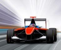 race för bilformel en Arkivbild