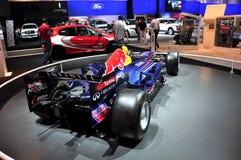 race för bilformel en renault Arkivbilder