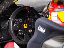 Race Ferrari's steering wheel close up Stock Image