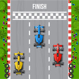 Race Finish Top View Illustration Stock Photos