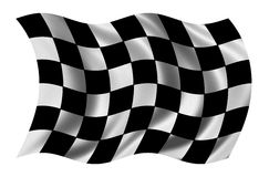 Race flag. Waving in the wind - with cloth texture - clipping path included Royalty Free Stock Photos