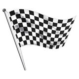 Race flag. Illustration of race flag of all races Stock Photo