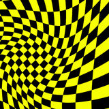 Race flag. Black-yellow squares background - race flag Royalty Free Stock Photos