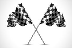 Race Flag. Illustration of race flag with checkered texture Royalty Free Stock Photo