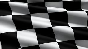 Race flag. Background, 3d render Stock Photos