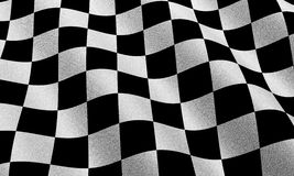 Race flag. Highly detailed race flag with fabric texture Stock Photo