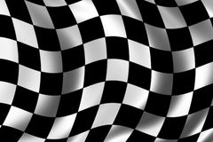 Race Flag. Waving in the wind Royalty Free Stock Photos