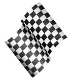 Race flag - Checkered 3d Flag. Checkered 3d Flag, championship, finishing line concept vector illustration Stock Photos